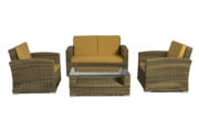 Wicker 4 Piece Conversation Sofa Set on Sale